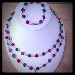 Authentic Swarovski Necklace & Bracelet
